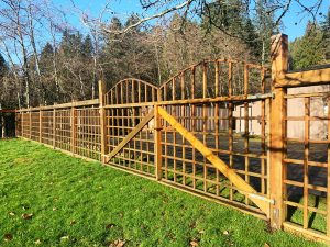 double gates in wood fence