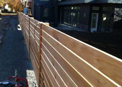 horizontal wood fence victoria